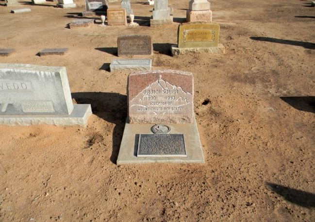 Detail of the Urbici Soler gravesite. image. Click for full size.