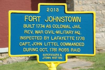 New Fort Johnstown Marker image. Click for full size.