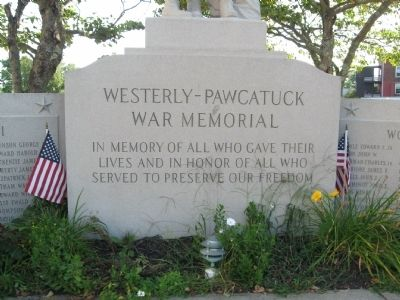 Westerly – Pawcatuck War Memorial image. Click for full size.