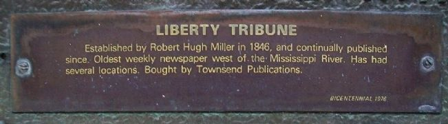 Liberty Tribune Marker Detail image. Click for full size.