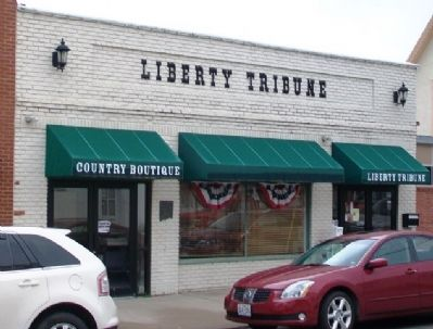 Liberty Tribune and Marker image. Click for full size.