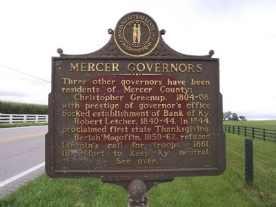 Mercer Governors Marker image. Click for full size.