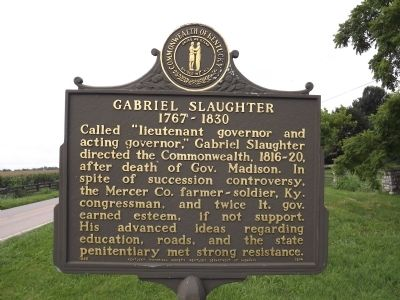 Gabriel Slaughter Marker image. Click for full size.