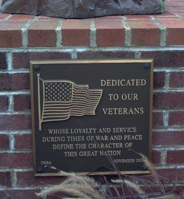 Delaware River and Bay Authority Veterans Dedication Marker image. Click for full size.