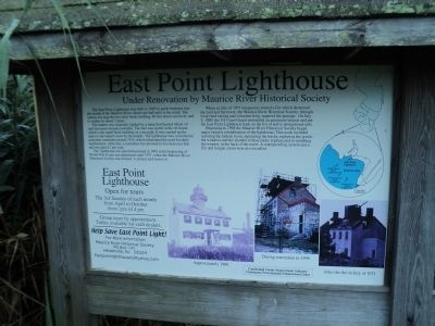 East Point Lighthouse Marker image. Click for full size.