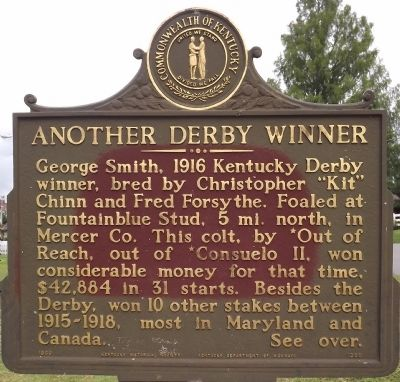 An Early Derby Winner / Another Derby Winner Marker image, Touch for more information