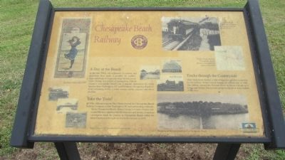 Chesapeake Beach Railway Marker image. Click for full size.