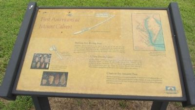 First Americans at Mount Calvert Marker image. Click for full size.