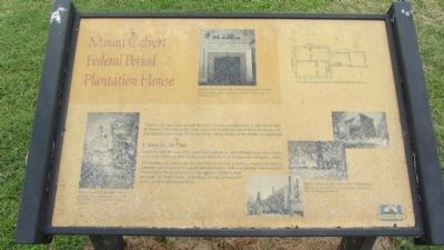 Mount Calvert Federal Period Plantation House Marker image. Click for full size.