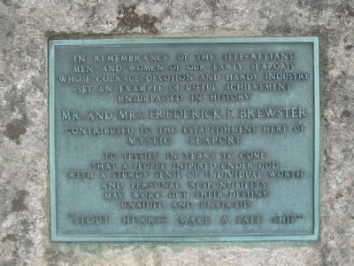 Plaque on the west side of the Boulder image. Click for full size.