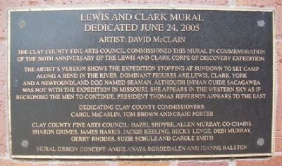 Lewis and Clark Mural Marker image. Click for full size.