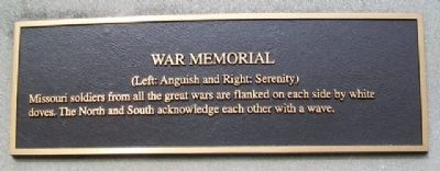 War Memorial Mural Marker image. Click for full size.
