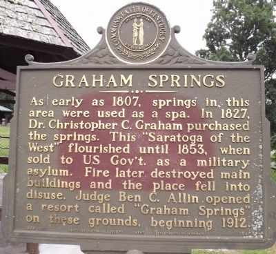 Graham Springs Marker image. Click for full size.