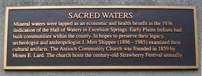 Sacred Waters Marker image. Click for full size.