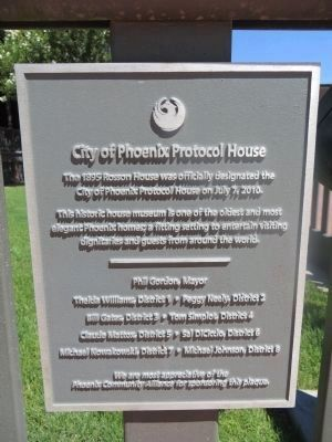 City of Phoenix Plaque image. Click for full size.