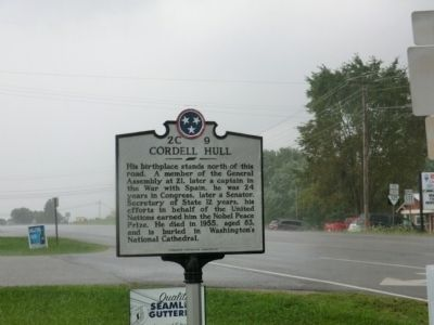 Cordell Hull Marker image. Click for full size.