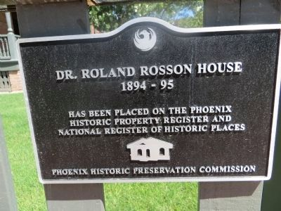Rosson House NRHP Plaque image. Click for full size.