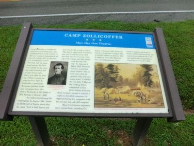 Camp Zollicoffer Marker image. Click for full size.