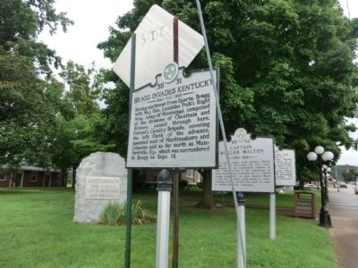 Bragg Invades Kentucky Marker image. Click for full size.