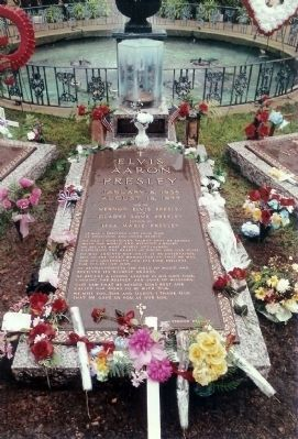 Elvis Presley Burial Vault image. Click for full size.