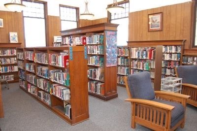 Savanna Public Library Interior View image. Click for full size.