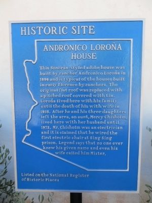 Andronico Loroña House Marker image. Click for full size.