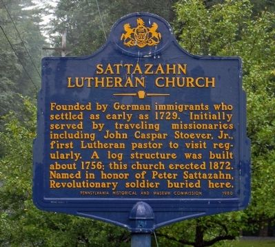 Sattazahn Lutheran Church Marker image. Click for full size.
