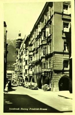 Herzog Friedrichstrasse - View North with Leopold Mozart House Visible image. Click for full size.