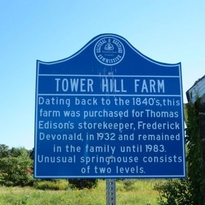 Tower Hill Farm Marker image. Click for full size.