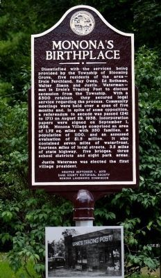 Monona's Birthplace Marker image. Click for full size.