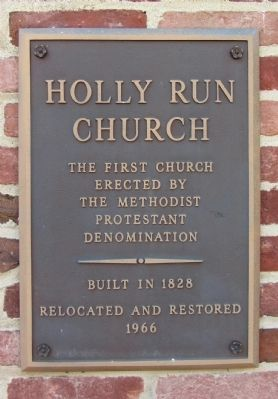Holly Run Church Marker image. Click for full size.