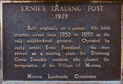 Ernie's Trading Post Marker image. Click for full size.