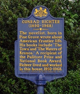 Conrad Richter Marker image. Click for full size.