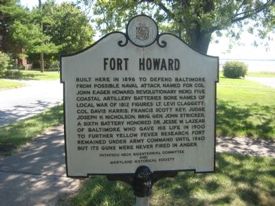 Fort Howard Marker image. Click for full size.