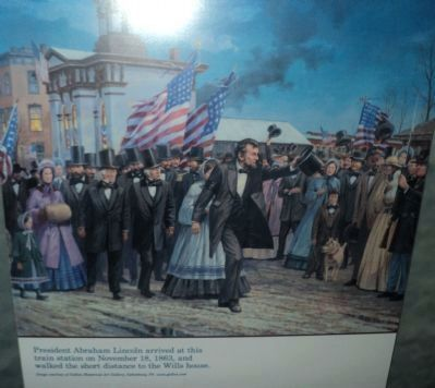 Lincoln at the Western Maryland Station image. Click for full size.