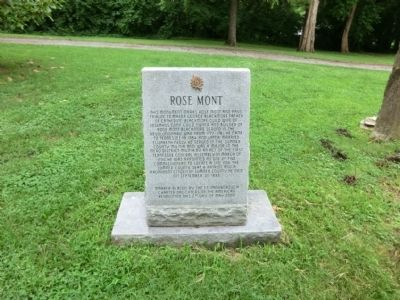 Rose Mont Marker image. Click for full size.