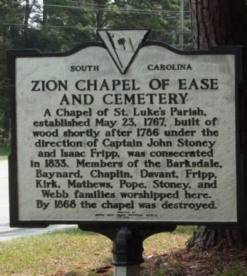Zion Chapel of Ease and Cemetery Marker with modern paint scheme image. Click for full size.