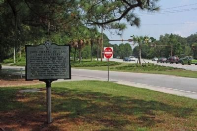Zion Chapel of Ease and Cemetery Marker, at Mathews Drive and William Hilton Parkway (U.S. 278) image. Click for full size.