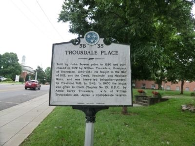 Trousdale Place Marker image. Click for full size.