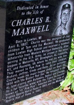 Charles R. Maxwell Marker (Front) image. Click for full size.