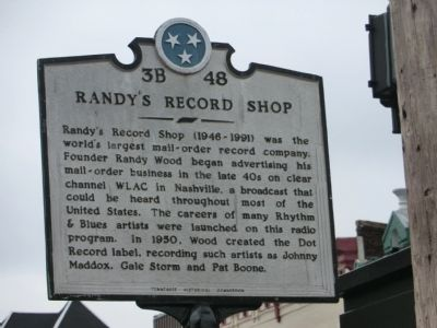 Randy's Record Shop Marker image. Click for full size.