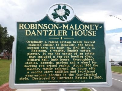 Robinson-Maloney-Dantzler House Marker image. Click for full size.