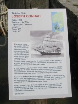 Training Ship Joseph Conrad Marker image. Click for full size.
