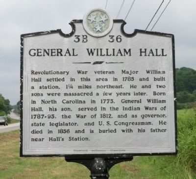 General William Hall Marker image. Click for full size.