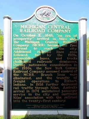Michigan Central Railroad Company Marker image. Click for full size.