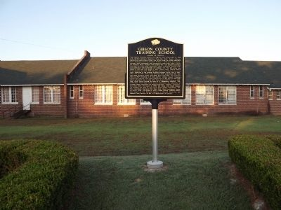 Gibson County Training School Marker image. Click for full size.