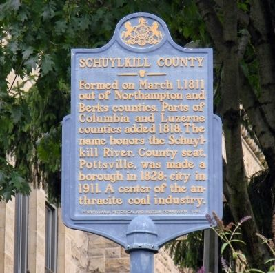 Schuylkill County Marker image. Click for full size.
