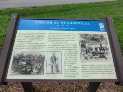 Ambush at Meadowville Marker image. Click for full size.