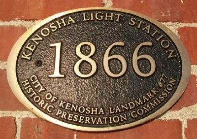 Kenosha Light Station Marker image. Click for full size.