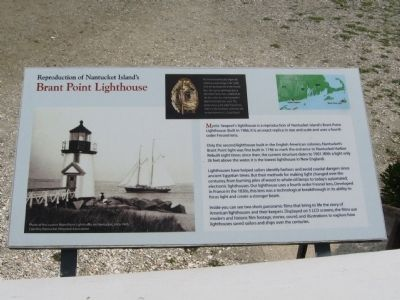 Reproduction of Nantucket Island's Brant Point Lighthouse Marker image. Click for full size.